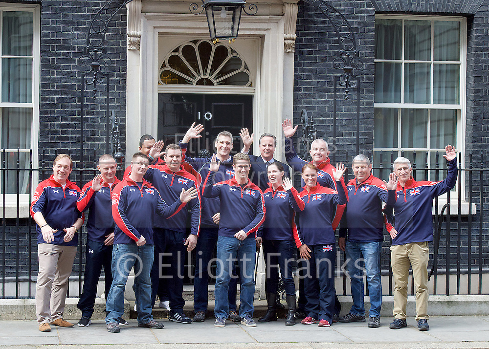 David Cameron the Prime Minister meeting members of the United Kingdom team attending the Invictus Games between 8-12 May in Orlando, USA.<br /> <br /> 10 Downing Street, London, Great Britain <br /> 27th April 2016 <br /> <br /> David Cameron <br /> Prime Minister <br /> <br /> <br /> Photograph by Elliott Franks <br /> Image licensed to Elliott Franks Photography Services