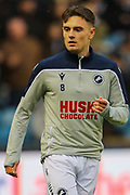 Millwall midfielder Ben Thompson (8) warms up prior to the EFL Sky Bet Championship match between Millwall and Charlton Athletic at The Den, London, England on 9 November 2019.