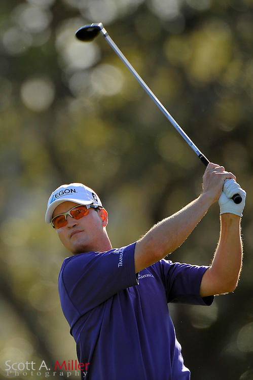 March 29, 2009; Orlando, FL, USA; Zach Johnson tees off on the 12th hole during the final round of the Arnold Palmer Invitational at the Bay Hill Club and Lodge. ©2009 Scott A. Miller