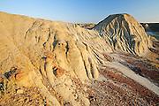 badland formations at sunrise<br /> Avonlea<br /> Saskatchewan<br /> Canada