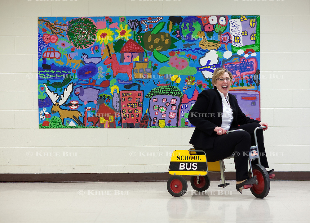 Jennybeth Delbane, of Chesterfield County Schools, is shown at O.B. Gates Elementary School Tuesday, February 10, 2015, in Chesterfield, VA.  Shortly after graduating in the MSOL program from Quinnipiac University, Ms. Delbane was offered a supervisory position.