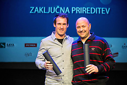 Grega Zemlja and Andrej Krasevec in behalf of Polona Hercog at Slovenian Tennis personality of the year 2016 annual awards presented by Slovene Tennis Association Tenis Slovenija, on December 7, 2016 in Siti Teater, Ljubljana, Slovenia. Photo by Vid Ponikvar / Sportida