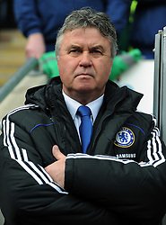 Chelsea manager Guus Hiddink watches from the sideline during the FA Cup Sponsored by E.ON 6th round match between Coventry City and Chelsea at the Ricoh Arena on March 7, 2009 in Coventry, England.