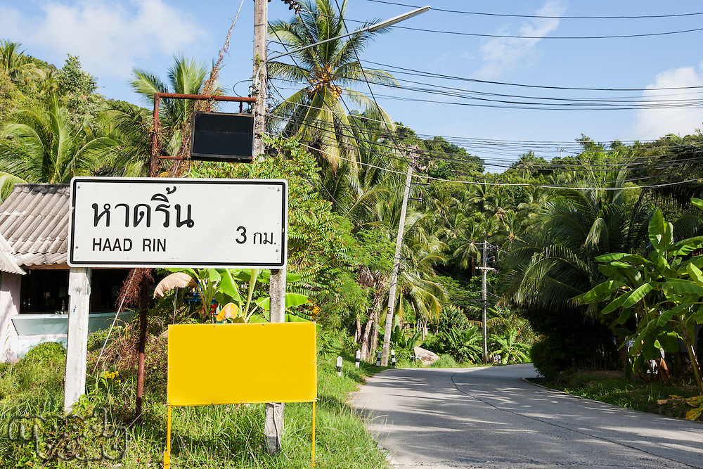 Signpost to Haad Rin; Koh Pha Ngan; Thailand