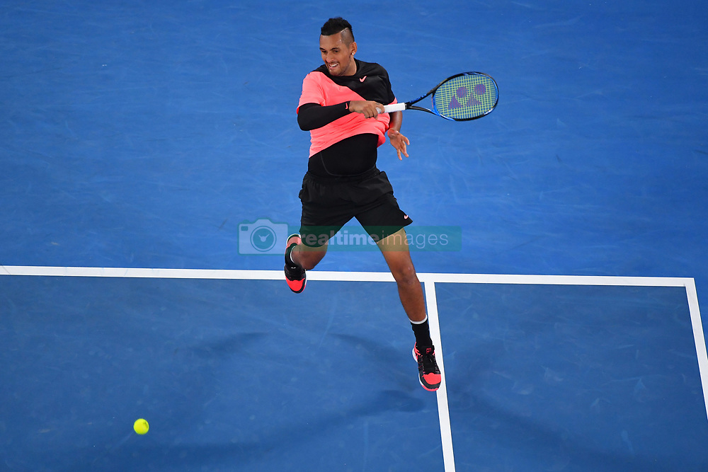 January 19, 2018 - Melbourne, AUSTRALIA - Nick Kyrgios  (Credit Image: © Panoramic via ZUMA Press)