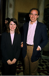 MR JAMES GILBEY friend of the Princess of Wales and MISS SHARON SILVER at a party in London on 9th June 1997.LZC 24
