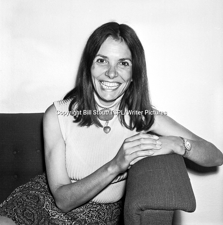 TV presenter, actress and journalist Joan Bakewell in Edinburgh, June 1974.<br /> <br /> copyright Bill Stout/TSPL/Writer Pictures<br /> contact +44 (0)20 822 41564<br /> info@writerpictures.com<br /> www.writerpictures.com