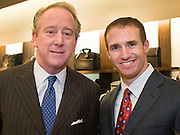 Former New Orleans Saints Quarterback Archie Manning and Current Saints Quarterback Drew Brees at Saks Fifth Avenue New Orleans Grand Re-Opening, November 11, 2006