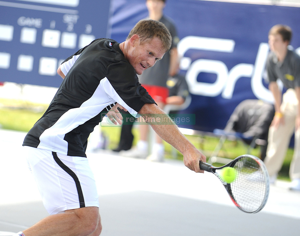 June 20, 2013 - Edinburgh, Midlothian, UK - Brodies Champions of Tennis..Mikael Pernfors takes on Wayne Ferreira  in the second match of the tournament..Pic shows: Wayne Ferreira in action. (Credit Image: © Ian Jacobs/Colorsport/ZUMAPRESS.com)