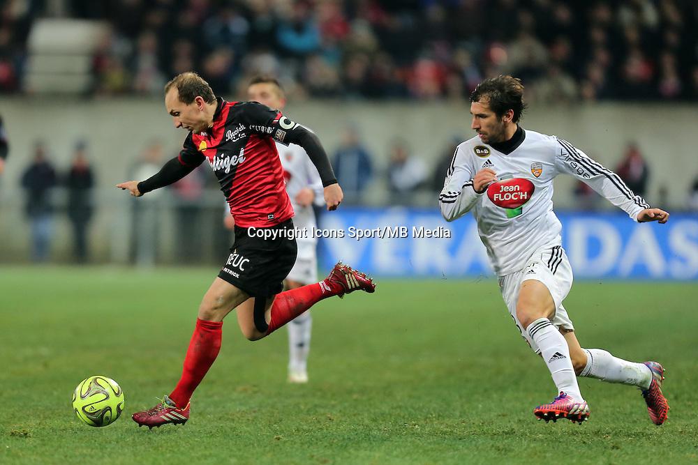 Thibault GIRESSE / PEDRINHO  - 24.01.2015 - Guingamp / Lorient - 22eme journee de Ligue1<br />Photo : Vincent Michel / Icon Sport *** Local Caption ***