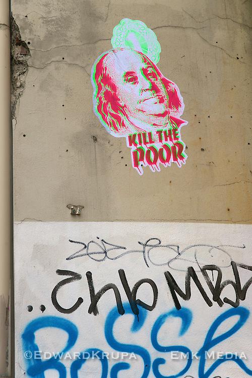 Kill the poor. Street art in Berlin.