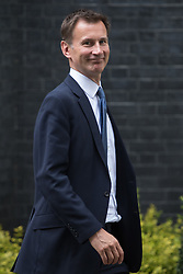 Downing Street, London, June 14th 2016. Health Secretary Jeremy Hunt leaves 10 Downing Street after attending the weekly cabinet meeting.