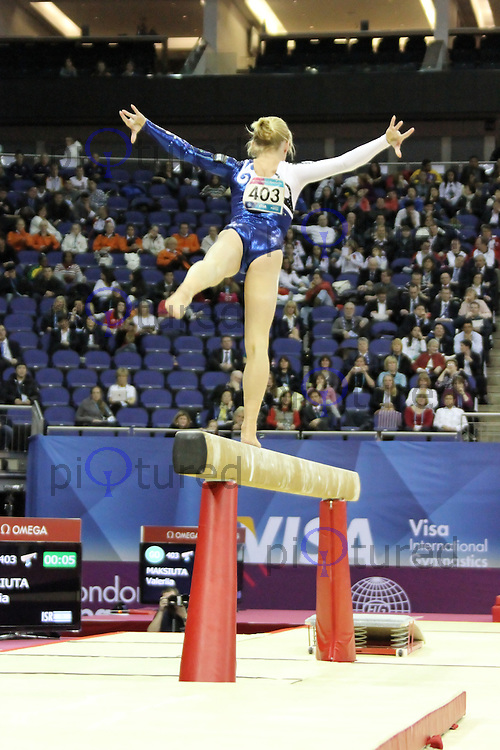 LONDON - JANUARY 13:  Visa International Artistic Gymnastics - London 2012 Olympics Test Event at the North Greenwich Arena, London, UK on January 13, 2012. (Photo by Richard Goldschmidt)