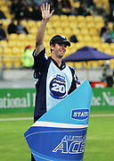 Auckland Aces player Carl Cachopa during the State Twenty20 uniform launch held during the break in innings at the first Twenty20 match between the New Zealand Black Caps and Sri Lanka held at Westpac Stadium in Wellington, New Zealand on Friday, 22 December 2006. Sri Lanka won the match on Duckworth Lewis calculations. Photo: Tim Hales/PHOTOSPORT