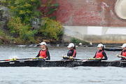 Cambridge, USA, Youth Women' Fours,   crews approaching the  John Weeks footbridge during the  2009 Head of the Charles  Sunday  18/10/2009  [Mandatory Credit Peter Spurrier Intersport Images],.