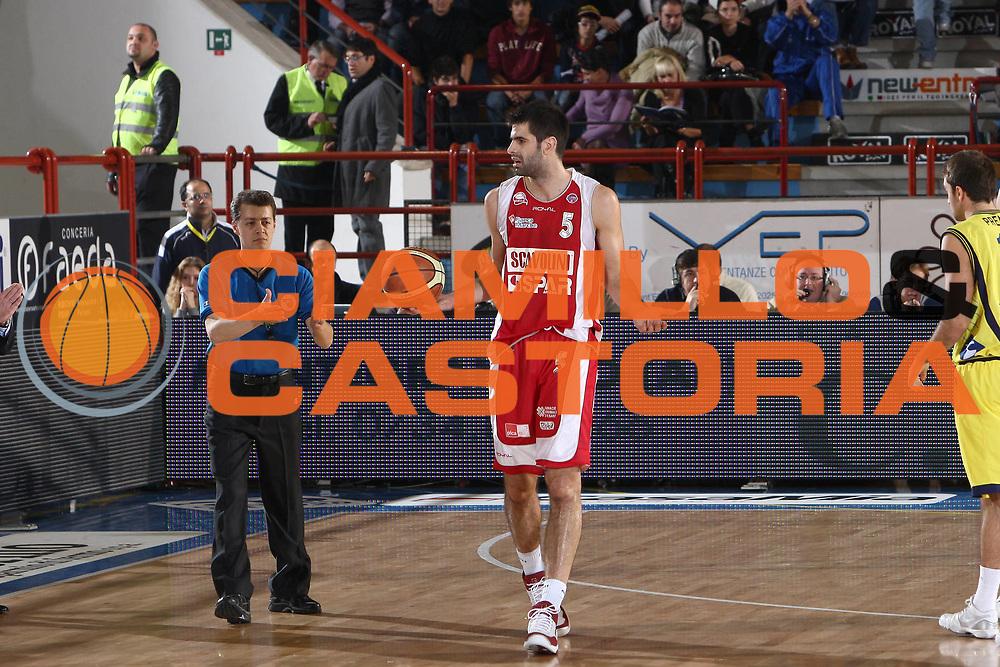 DESCRIZIONE : Porto San Giorgio Lega A 2009-10 Basket Sigma Coatings Montegranaro Scavolini Spar Pesaro<br /> GIOCATORE : Dusan Sakota<br /> SQUADRA : Scavolini Spar Pesaro <br /> EVENTO : Campionato Lega A 2009-2010 <br /> GARA : Sigma Coatings Montegranaro Scavolini Spar Pesaro<br /> DATA : 22/11/2009<br /> CATEGORIA : delusione<br /> SPORT : Pallacanestro <br /> AUTORE : Agenzia Ciamillo-Castoria/C.De Massis<br /> Galleria : Lega Basket A 2009-2010 <br /> Fotonotizia : Porto San Giorgio Lega A 2009-10 Basket Sigma Coatings Montegranaro Scavolini Spar Pesaro<br /> Predefinita :