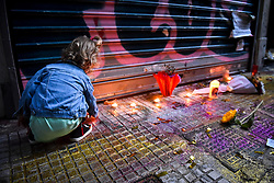 October 2, 2018 - Athens, Greece - Hundreds of protesters joined a march to protest the circumstances of the death of 33-year-old Zak  Kostopoulos, who died after being beaten and kicked in the head, after entering a jewelry shop near Omonia Square, allegedly to rob the owner. The deceased was a heroin addict and gay LGBT activist. As a transvestite, his moniker was Zackie O. (Credit Image: © Eurokinissi via ZUMA Wire)