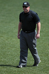 26 April 2014:  Umpire Grady Smith during an NCAA Division 1 Missouri Valley Conference (MVC) Baseball game between the Southern Illinois Salukis and the Illinois State Redbirds in Duffy Bass Field, Normal IL