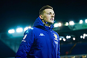Leeds United defender Ben White (5) arrives at the ground during the EFL Sky Bet Championship match between Leeds United and Millwall at Elland Road, Leeds, England on 28 January 2020.