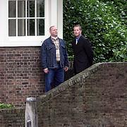 NLD/Amsterdam/20080907 - Gasten van het huwelijksfeest Nina Brink en Pieter Storms, beveiliging, links een van de bodyguards van Nina Brink