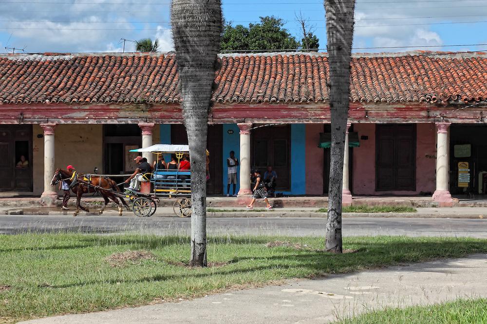 Street in Camaguey city, Camaguey, Cuba.