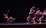 Members of the Dancing Wheels Dance Troupe perform in Ohio University's Baker Theater on October 13, 2015 as part of the month-long series of events at the University and in Athens, Ohio to celebrate the 25th anniversary of the Americans with Disabilities Act. Photo by Emily Matthews