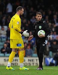 Artur Krysiak of Yeovil Town warms up before kick -off  - Mandatory by-line: Nizaam Jones/JMP - 29/10/2016/ - FOOTBALL - Hush Park - Yeovil, England - Yeovil Town v Grimsby Town - Sky Bet League Two