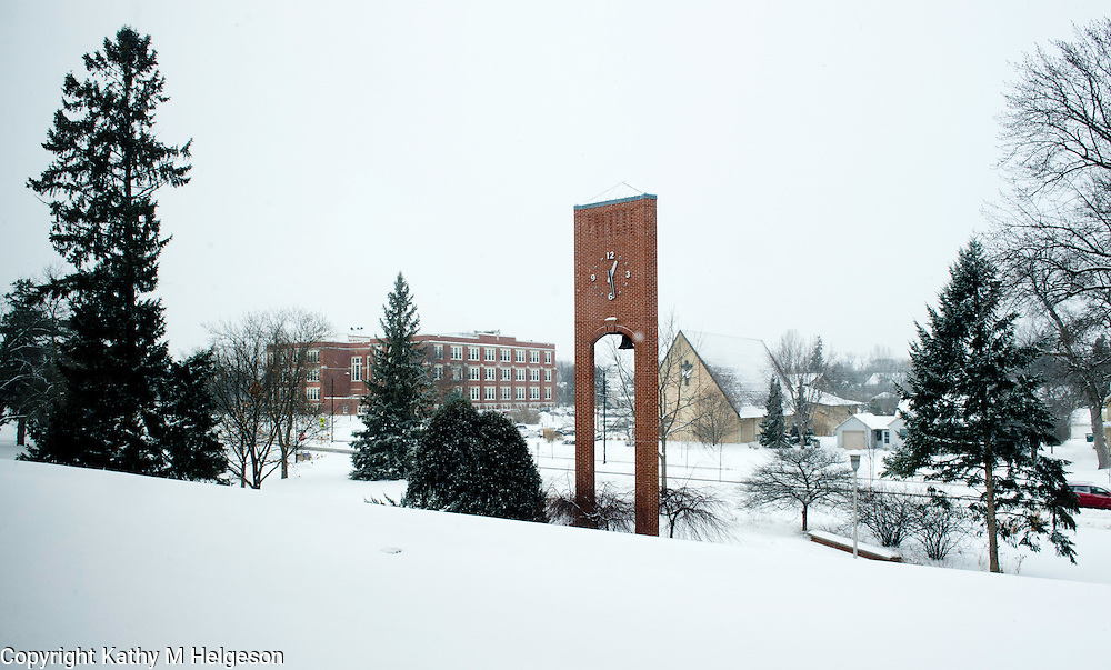Snow on Campus.February 6, 2013. Photo by Kathy M Helgeson