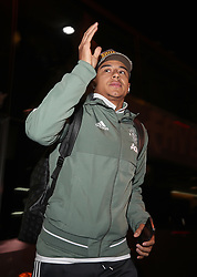 """Manchester United's Jesse Lingard arrives for the Emirates FA Cup, fourth round match at Huish Park, Yeovil. PRESS ASSOCIATION Photo. Picture date: Friday January 26, 2018. See PA story SOCCER Yeovil. Photo credit should read: Nick Potts/PA Wire. RESTRICTIONS: EDITORIAL USE ONLY No use with unauthorised audio, video, data, fixture lists, club/league logos or """"live"""" services. Online in-match use limited to 75 images, no video emulation. No use in betting, games or single club/league/player publications."""