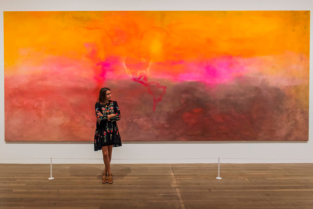 Texas Louise 1971 by Frank Bowling - Soul of a Nation: Art in the Age of Black Power, Tate Modern's new exhibition exploring what it meant to be a Black artist during the Civil Rights movement.  The exhibition is at Tate Modern from 12 July – 22 October 2017.
