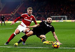 Robert Snodgrass of Hull City tries to keep the ball in play - Mandatory by-line: Robbie Stephenson/JMP - 05/12/2016 - FOOTBALL - Riverside Stadium - Middlesbrough, England - Middlesbrough v Hull City - Premier League