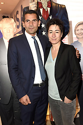 Mitri Sirin und Dunja Hayali bei der Wahlparty zur US-Wahlnacht 2016 in der Hauptstadtrepräsentanz der Bertelsmann SE & Co KGaA in Berlin<br /> <br /> / 081116<br /> <br /> *** Election Party at the Bertelsmann House in Berlin, Germany; November 8th, 2016 ***