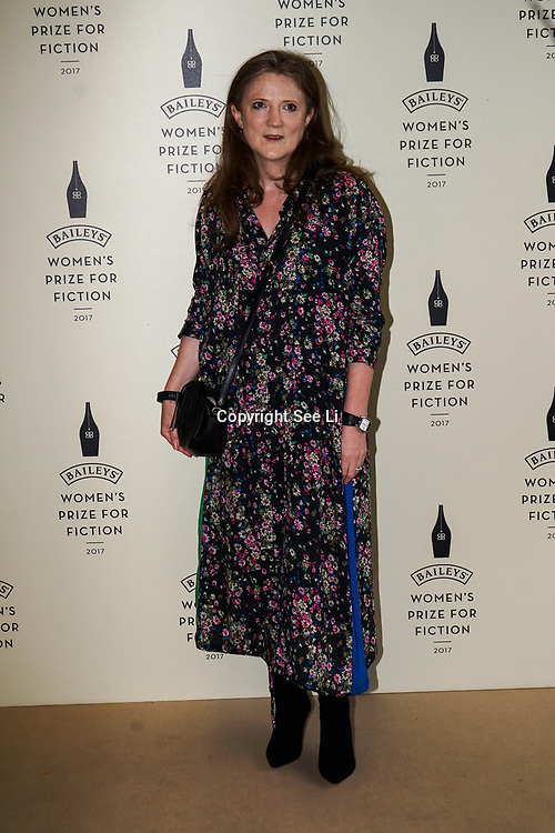London,UK. 7th June 2017. Sam Baker attends a photocall The Baileys Prize for Women's Fiction Awards 2017 at the The Royal Festival Hall, Southbank Centre. by See Li