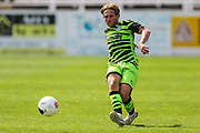 Forest Green Rovers George Williams(11) passes the ball forward during the Pre-Season Friendly match between Bath City and Forest Green Rovers at Twerton Park, Bath, United Kingdom on 27 July 2019.
