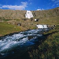 Dynjandi Fjallfoss, Arnarfj&ouml;r&eth;ur, Au&eth;k&uacute;luhreppur /  <br /> Dynjandi, Fjallfoss in Audkuluhreppur in Arnarfjordur. -  After county merger new name: &Iacute;safjar&eth;arb&aelig;r /  Isafjardarbaer.