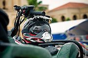 Russian ATV competitor's helmet