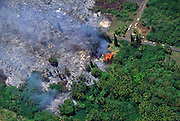 House burning, Kalapana, Kilauea Volcano, Island of Hawaii, Hawaii, USA<br />