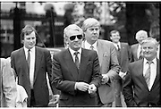 Dail Resumes After General Election.  (T3)..1989..29.06.1989..06.29.1989..29th June 1989..After the general election  members of the 26th Dáil arrived in Leinster House, Dublin to take their seats in the parliamentary chamber...Austin Currie TD is pictured arriving at Dáil Éireann to take up his seat in the Dáil.