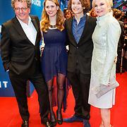 NLD/Amsterdam/20130408 - Filmpremiere Daglicht, Monique van der Ven, partner Edwin de Vries, zoon Sammy en schoondochter