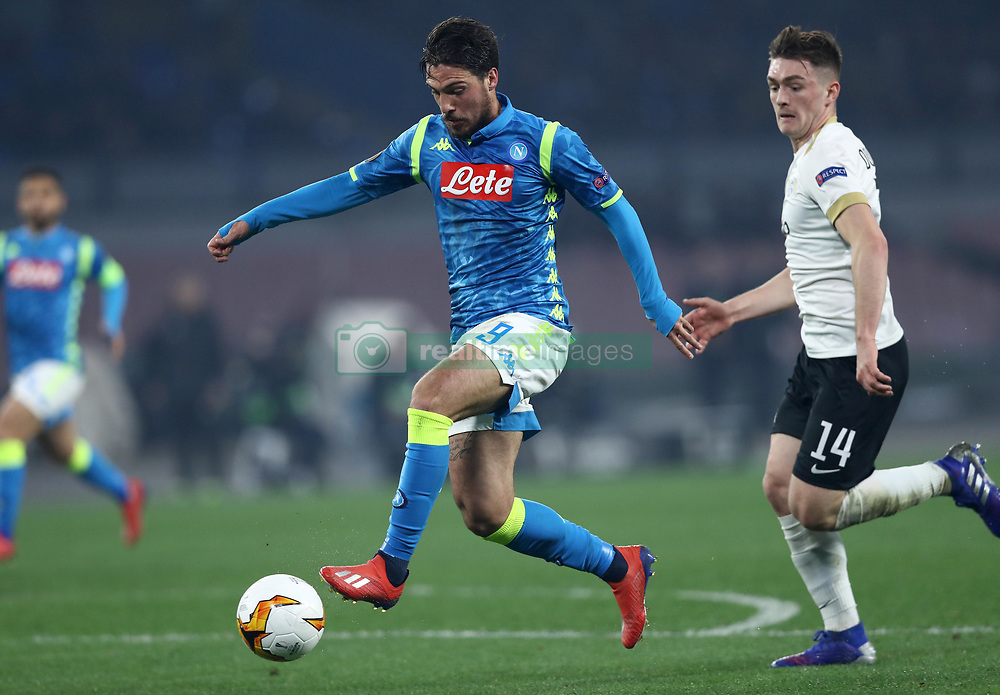 February 21, 2019 - Rome, Italy - SSC Napoli v FC Zurich - UEFA Europa League Round of 32.Simone Verdi of Napoli at San Paolo Stadium in Naples, Italy on February 21, 2019. (Credit Image: © Matteo Ciambelli/NurPhoto via ZUMA Press)