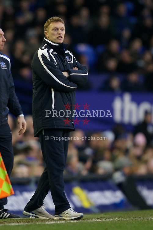 LIVERPOOL, ENGLAND - Saturday, January 5, 2008: Everton's manager David Moyes during the FA Cup 3rd Round match against Oldham Athletic at Goodison Park. (Photo by David Rawcliffe/Propaganda)