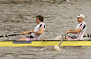 Chiswick, LONDON, ENGLAND, 25.03.2006, Steve William left and Alex Partridge, 2006 Head of the River Race. Mortlake to Putney. © Peter Spurrier/Intersport-images.com. 2006 Men's Head of the River Race, Rowing Course: River Thames, Championship course, Putney to Mortlake 4.25 Miles 2006 Men's Head of the River Race, Rowing Course: River Thames, Championship course, Putney to Mortlake 4.25 Miles