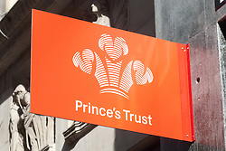 The Prince of Wales Opens Tomorrows Store. <br /> In the Picture - Prince's Trust store banner.<br /> The Prince of Wales officially opens The Prince's Trust 'Tomorrow's Store' and Prince's Trust House and meets staff and young people who have set up businesses with The Trust's help, London, United Kingdom. Tuesday, 10th September 2013. Picture by Piero Cruciatti / i-Images