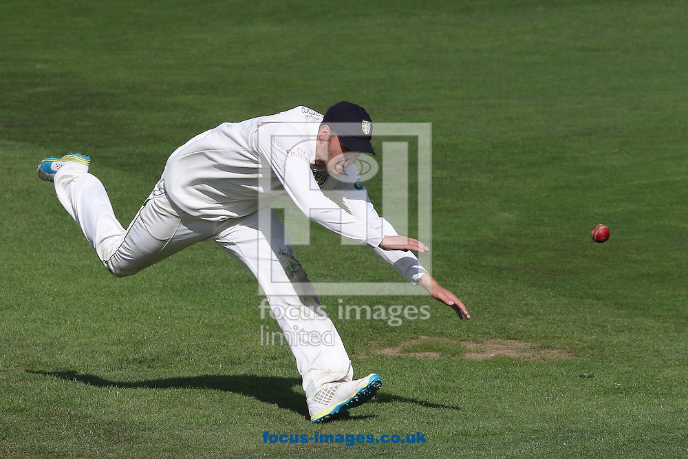 Jack Burnham of Durham CCC in fielding action during the Specsavers County C'ship Div One match at Headingley Carnegie Cricket Ground, Headingley<br /> Picture by Robert Smith/Focus Images Ltd 07837 882029<br /> 08/09/2016