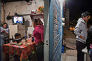 A restaurant business at their home run by the women in the family - Oaxaca in Mexico. October 2009