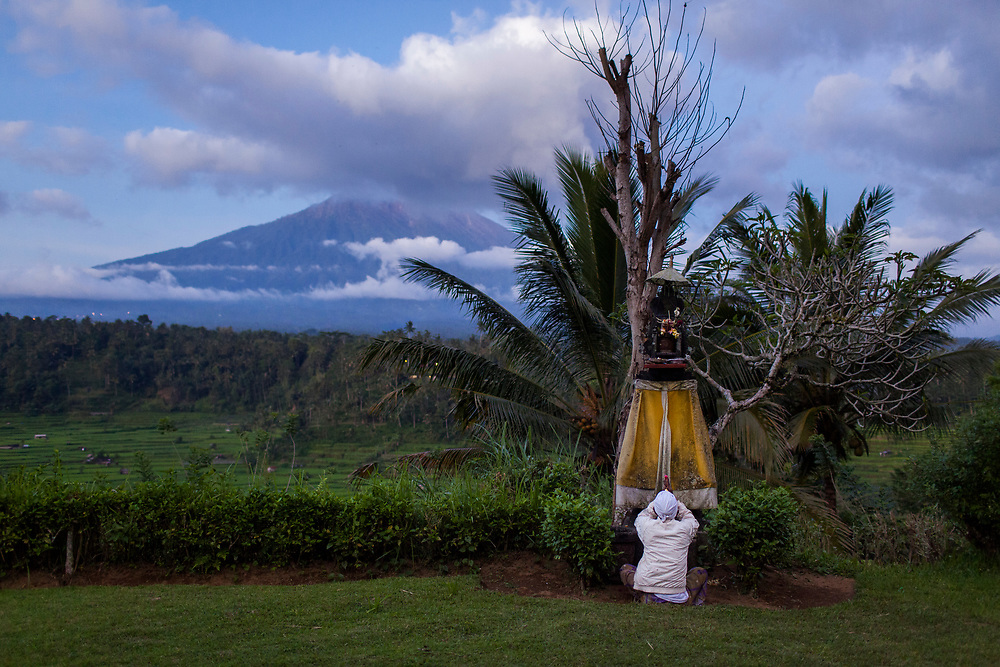 The majestic Mount Agung, a volcano in Bali, was predicted to erupt.  The power of the impact would be 10x the magnitude of Mount Merapi and 150,000 inhabitants within 12km of the volcano was forced to evacuate.