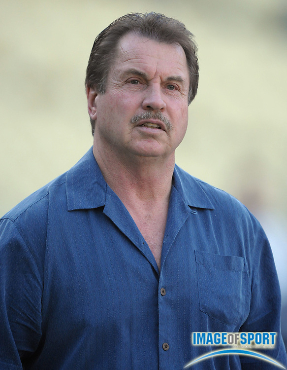 Apr 3, 2012; Los Angeles, CA, USA; Los Angeles Dodgers former third baseman Ron Cey attends the game against the Los Angeles Angels at Dodger Stadium.