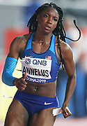 Anglerne Annelus aka Angie Annelus (USA) wins women's 200m heat in 22.56 during the IAAF World Athletics Championships, Monday, Sept. 30, 2010, in Doha, Qatar. (Claus Andersen/Image of Sport)