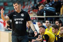 Gregor Cvijic, head coach of RK Gorenje during handball match between RD Slovan and RK Gorenje Velenje in Round #10 of 1. NLB Leasing liga 2015/16, on November 13, 2015 in Arena Kodeljevo, Ljubljana, Slovenia. Photo by Vid Ponikvar / Sportida