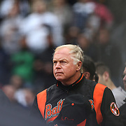 Buck Showalter, manager of the Baltimore Orioles, during the New York Yankees V Baltimore Orioles home opening day at Yankee Stadium, The Bronx, New York. 7th April 2014. Photo Tim Clayton